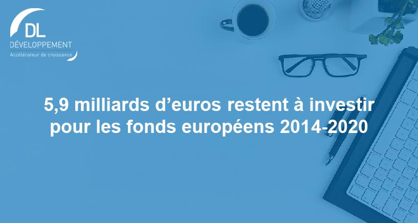 5,9 Milliards d'euros restent à investir pour les fonds européens 2014-2020