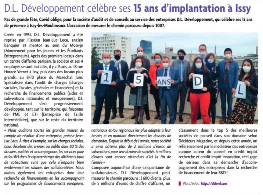 DL Développement est dans la presse